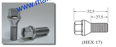 wheel bolt conical seat